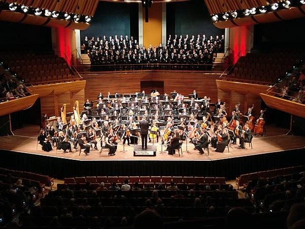 Bir klasik müzik orkestrası