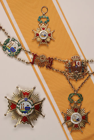 Order of Isabella the Catholic - Collar granted to Czech President Václav Havel