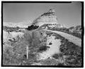 Oregon Trail, original cut and marker post. View E. - Scotts Bluff Summit Road, Gering, Scotts Bluff County, NE HAER NE-11-8.tif