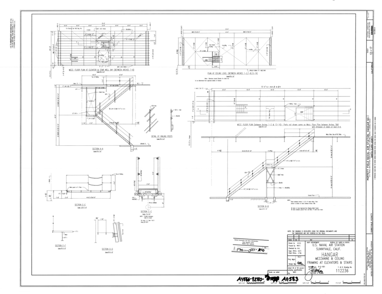 File:Original Drawing - Mezzanine and Ceiling Framing at