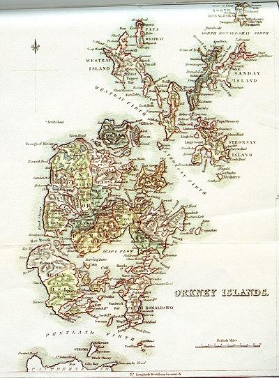 Orkney Civil Parish map c. 1845.jpg