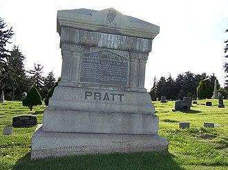 Orson Pratt - Grave marker of Orson Pratt.