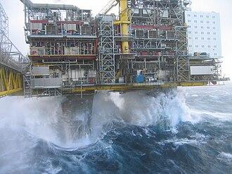 Keulegan–Carpenter number - Image: Oseberg A Waves II