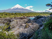 Osorno Volcano view from Petrohué Waterfalls.jpg