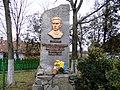 Ostap Nyzhankivsky monument in Zavadiv.JPG
