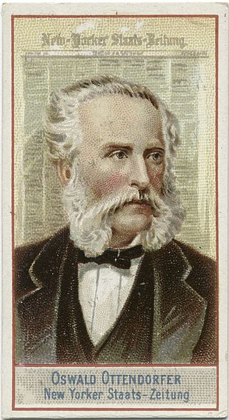 New Yorker Staats-Zeitung - Oswald Ottendorfer, editor 1858–1900