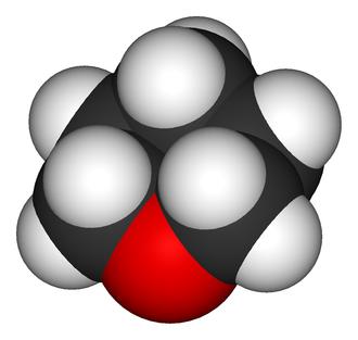 Tetrahydropyran - Image: Oxane 3D vd W