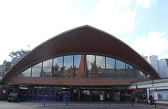 Manchester Oxford Road railway station - The Grade-II listed timber facade of the station