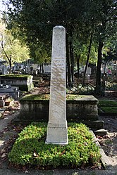 Monument of the bicentennial of the Cemetery Père-Lachaise