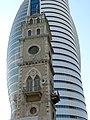 P1190145 - המסגד העתיק בולט מול בית המשרדים החדש.JPG