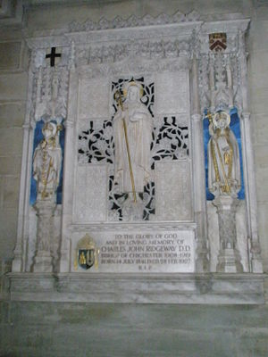 Charles Ridgeway - Memorial within Chichester Cathedral