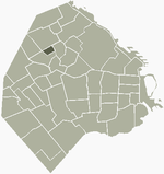 Location of Parque Chas within Buenos Aires