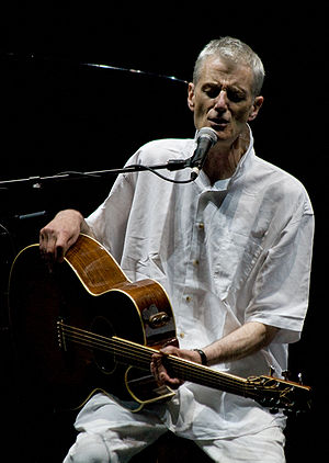 English: Peter Hammill onstage solo at Nearfes...