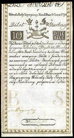 POL-A2a-Bilet Skarbowy-10 Zlotych (1794 First Issue).jpg