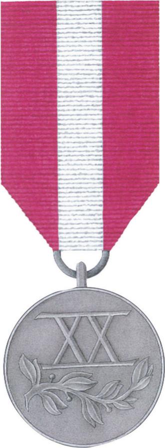Medal for Long Service - Image: POL Medal Za Dlugoletnia Sluzbe srebrny rewers