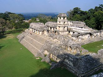 Maya city - Classic Period royal palace at Palenque
