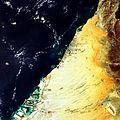 Palm Islands and World Islands on the coast of Dubai ESA237396.jpg