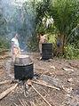 Palm oil manufacture (3) Lac Mukamba, Teretoir de Dimbelenge, Kasai occ. RD Congo.JPG