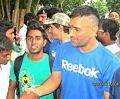 Pankaj Mahto with M.S. Dhoni..jpg