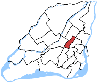 Papineau (electoral district) - Papineau in relation to other federal electoral districts in Montreal and Laval (2013 boundaries)