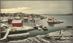 Winter in Pappershavn, Hvaler