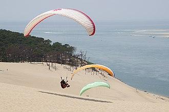 Dune of Pilat - Image: Paragliding Dune de Pilat
