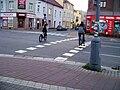 Pardubice, Jana Palacha, cyklistický přejezd.jpg