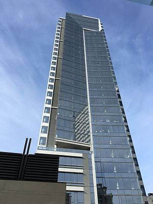 Park Avenue West Tower - The western face of the tower from Director Park