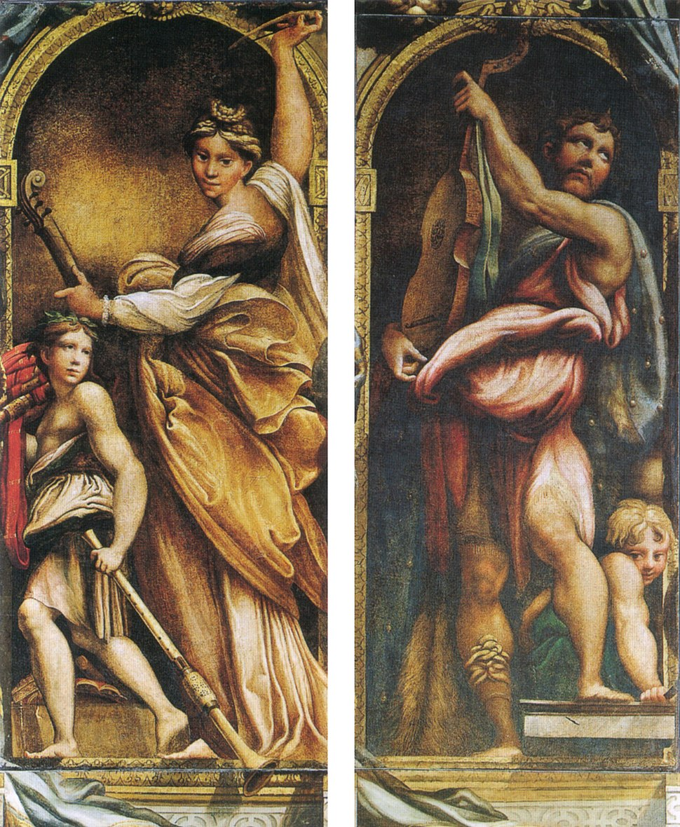Parmigianino, Santa Cecilia e David