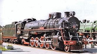 """Russian locomotive class FD - Image: Parovoz """"Felix Dzherzinski"""" in Brest museum"""