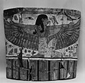 Part of the head end of the outer anthropoid coffin of Pakherenkhonsu MET 72602.jpg