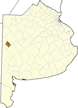 location of Tres Lomas Partido in Buenos Aires Province