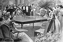 official photos e05c8 79def Partie de tennis de table mondaine en 1901.
