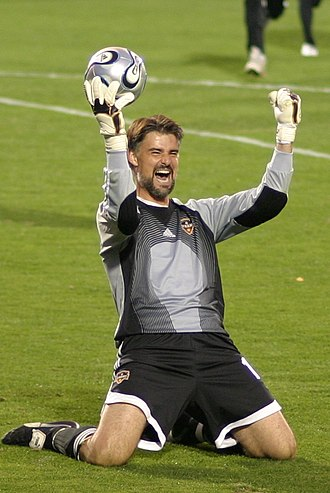 MLS Cup 2006 - Pat Onstad celebrates after stopping the final penalty kick in the shootout