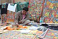 Patachitra artist at Book fair in Kolkata IMG 7109.jpg