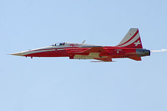 Payerne - Patrouille Suisse F-5 from Payerne Air Base