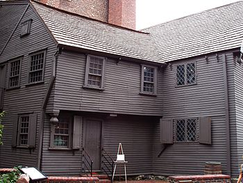 Paul Revere House, side view.