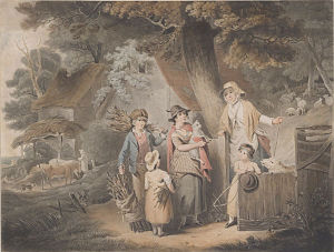 William Barnard (engraver) - The Peasant's Integrity, by William Barnard, Pushkin Museum, 1802