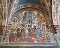 Pellegrinaio di santa maria della scala 02, domenico di bartolo, elemosina del vescovo.JPG