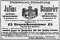 Pelzwaren-Handlung Julius Baumeier, Düsseldorf, Anzeige 22.11.1890.jpg