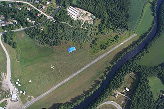 Drop zone - Drop zone in Pepperell, MA (USA) seen from the air