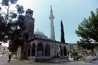 Clock Mosque - Image: Peqin, Albania – Mosque 1995 02
