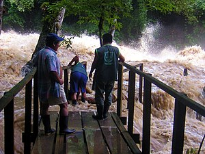 Cahabón River - The Cahabòn in flood at Semuc Champey