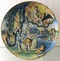 Pesaro, bottega di girolamo di lanfranco dalle gabicce, ratto di europa e di ganimede, xvi sec.JPG