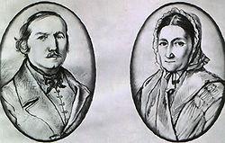 A költő szülei. Orlai Petrich Soma rajza