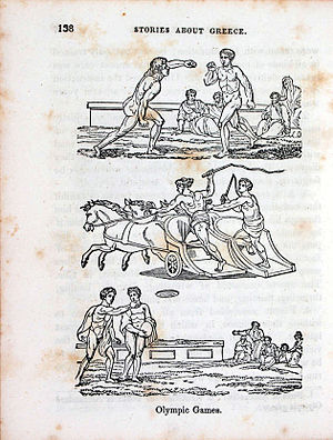 Samuel Griswold Goodrich - An engraving illustrating the Olympic games from Peter Parley's tales about ancient and modern Greece
