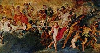 Gemäldezyklus für Maria de' Medici, Königin von Frankreich, Szene: Die Regierung der Königin (Götterat)