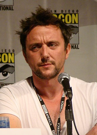 Peter Serafinowicz - Serafinowicz at a panel for Look Around You, 2010 San Diego Comic-Con