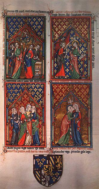 Peterborough Psalter - Image: Peterborough psalter KBR, ms. 9961 62 f 10