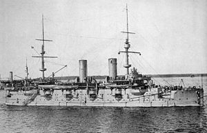 Russian ironclad Petr Veliky - Petr Velikiy after reconstruction as a gunnery training ship